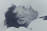 Black and white photo of the Somerton Man