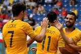 Socceroos celebrate opener against Czech Republic