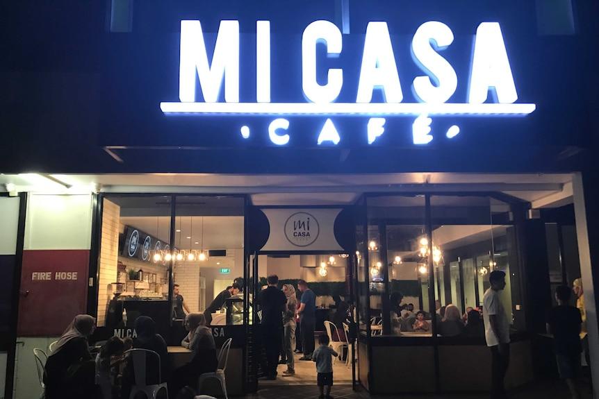 The front of Brisbane based Muslim cafe Micasa.