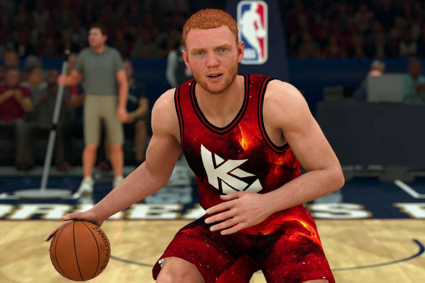Screenshot of Angus Hartmann's NBA 2K character