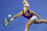 Daria Gavrilova stretches for the ball at the Australian Open