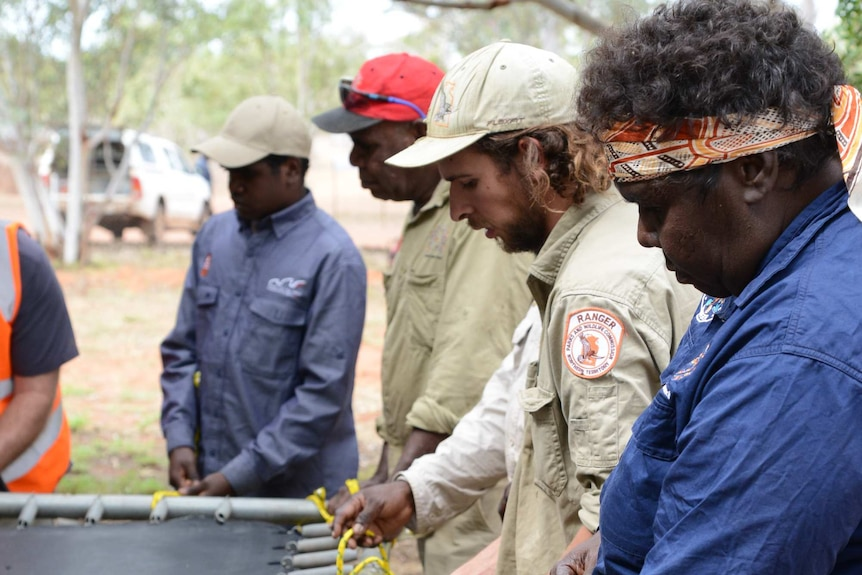 Indigenous rangers at Blue Bush Station