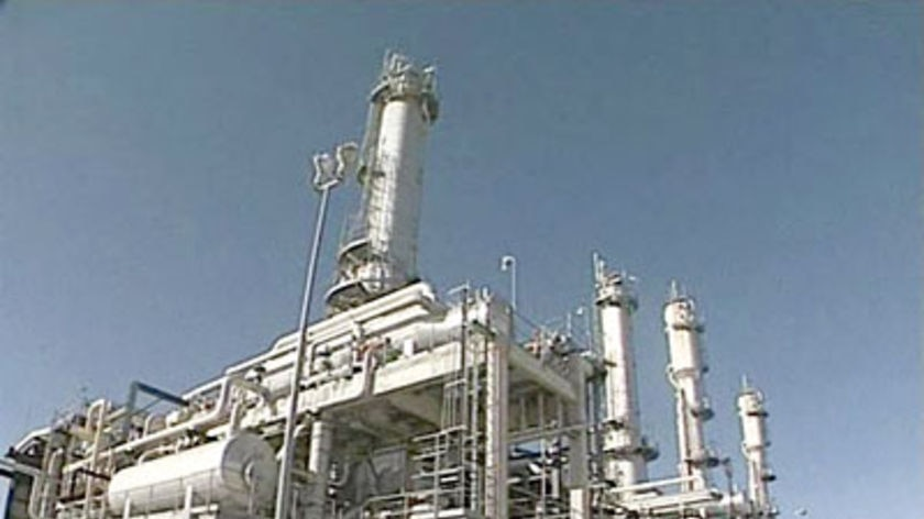 Santos gas production plant.