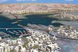 Proposed Lake Argyle city