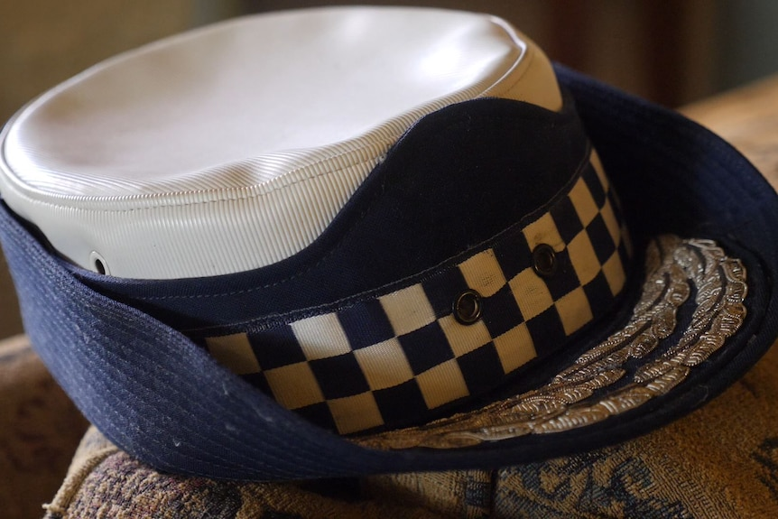 a policewoman cap without the badges.