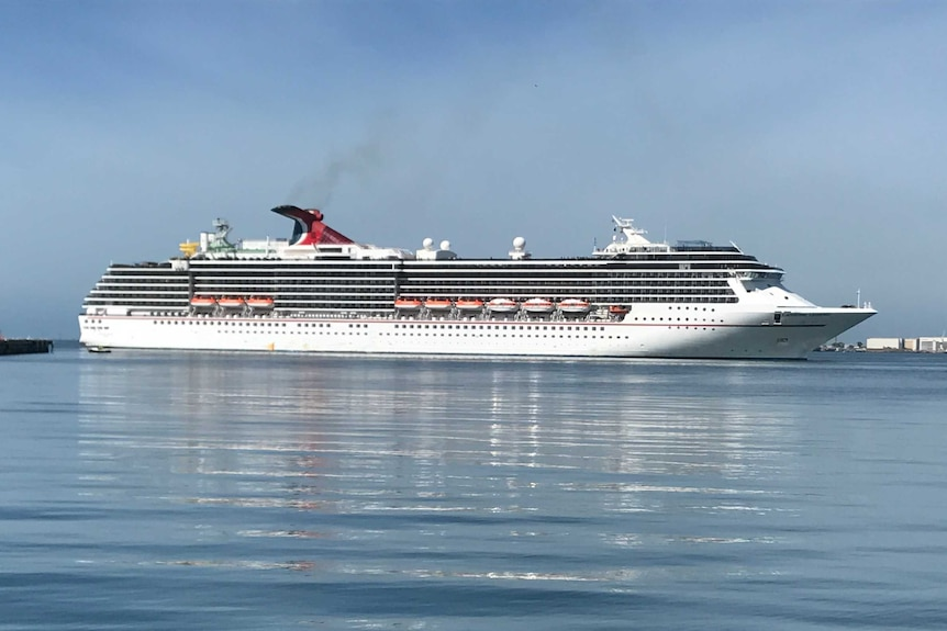 The Carnival Legend arrives at Station Pier in Port Melbourne.