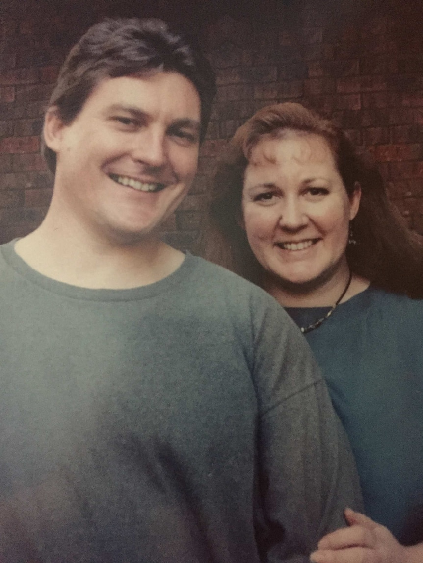 Judy and her brother Gordon in a portrait photo
