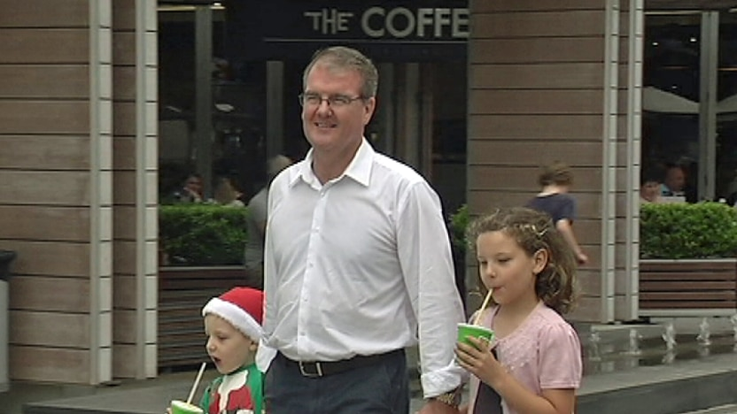 Michael Daley with his children in Sydney