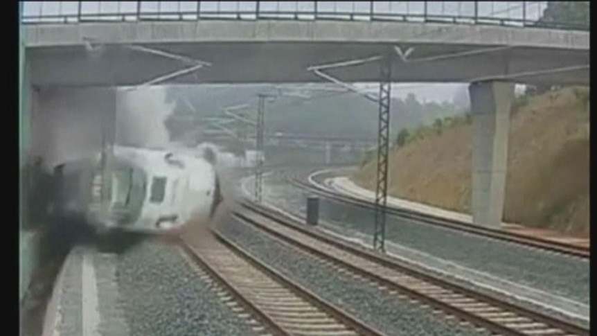 WARNING: GRAPHIC FOOTAGE. Watch the video footage of the derailment and aftermath