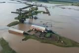 Flooded farm in northern Tasmania