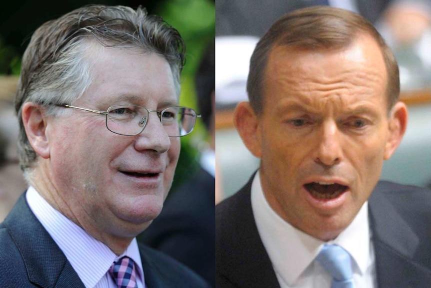 Denis Napthine (left) and Tony Abbott.
