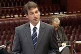 NSW Treasurer Eric Roozendaal in State Parliament