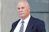 David Ettridge leaves the Supreme Court in Brisbane