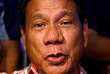 A close-up image of Rodrigo Duterte speaking.