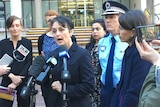 NSW government minister Pru Goward and Treasurer Gladys Berejiklian announce domestic violence funding.
