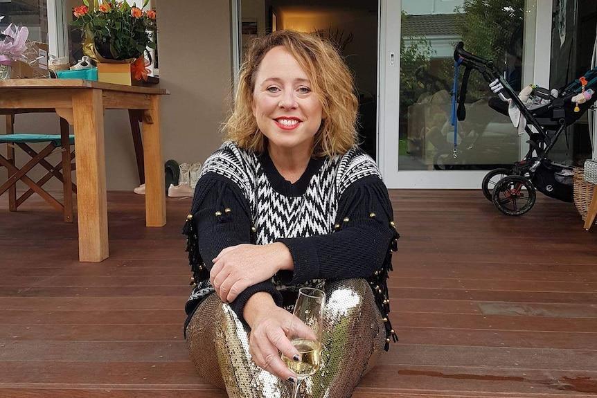 Renee Catt sitting on the steps