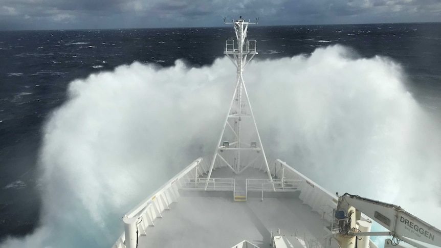 Rough seas experienced on board RV Investigator in May 2018