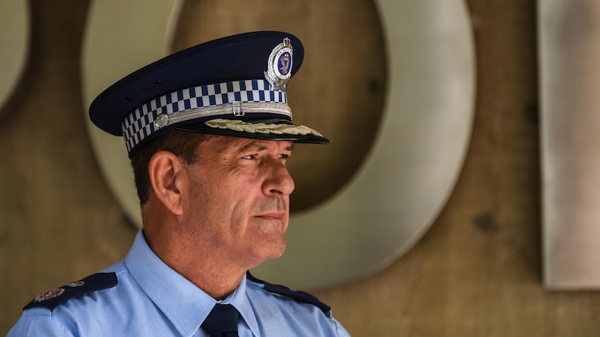 NSW Police Deputy Commissioner Dave Hudson looks on at a press conference.