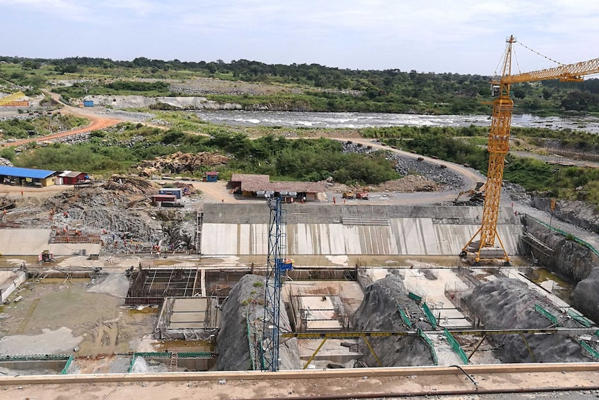 Hydropower project site in northern Uganda.