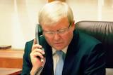 Rudd on the phone