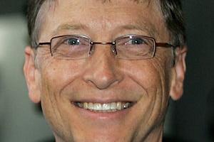 Close up image of Bill Gates smiling