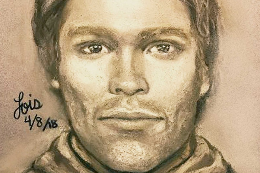 Sketch of man who allegedly threatened Stormy Daniels.