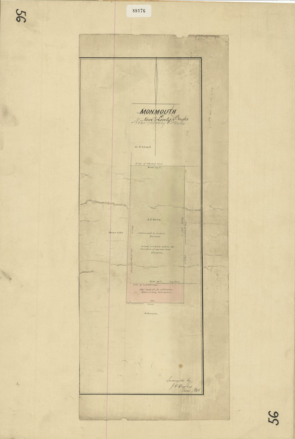 A sepia toned drawing of the Monmouth property