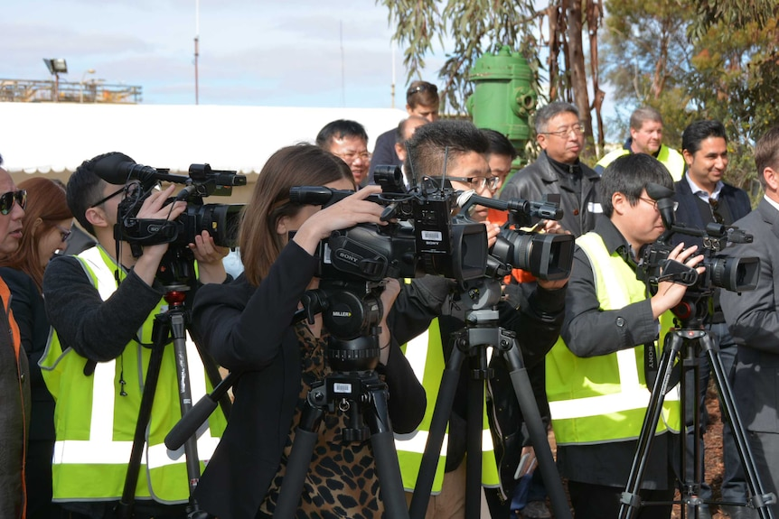 Chinese media contingent at Diggers and Dealers Mining Forum