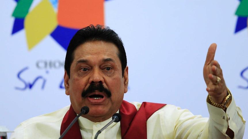 A spokesman for Mahinda Rajapaksa has dismissed the allegations as baseless.