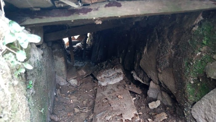 A sewer underneath Tangerang prison which was used as an escape route out of prison.