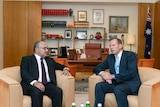 PNG PM Peter O'Neill with Tony Abbott