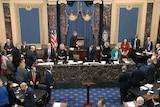 The US Senate assembles ahead of the vote.