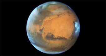 Mars seen through Hubble Telescope