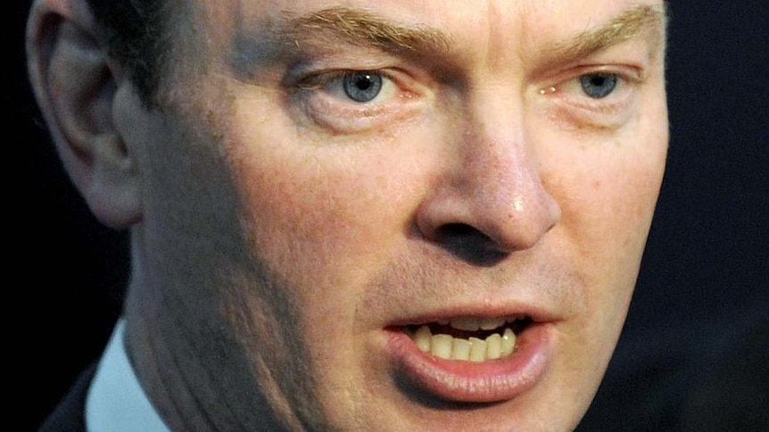 Christopher Pyne speaks to the media