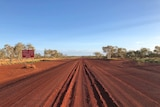 Image of a stretch of the Tanami Road near Halls Creek in Western Australia.