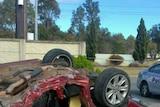 Noranda car crash scene