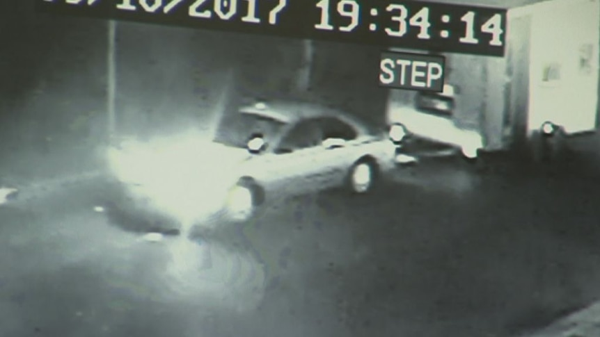 CCTV shows the tiny house being driven away
