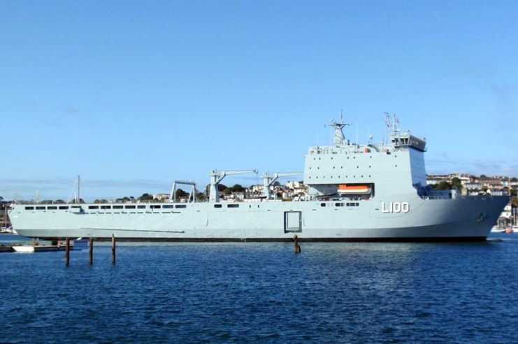 HMAS Choules, formerly known as the Largs Bay, was bought from the Royal Navy.