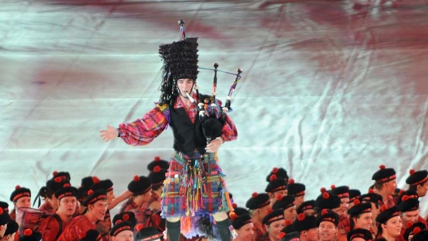Kilts abound at closing ceremony