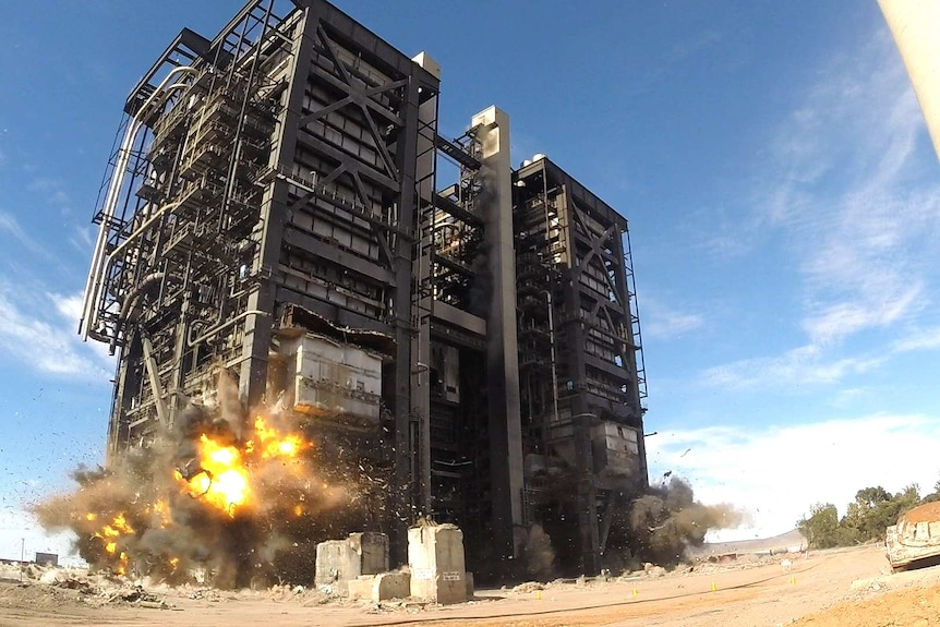 Port Augusta power station demolished by explosion