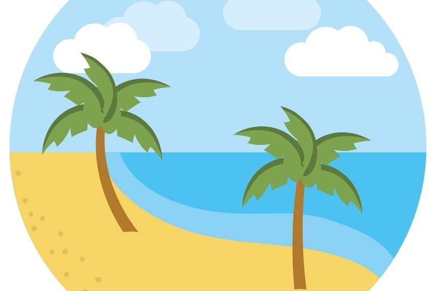 Animation of a beach setting