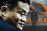Jack Ma and Xi Jinping in a graphic