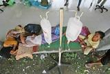 Survivors receive treatment outside hospital