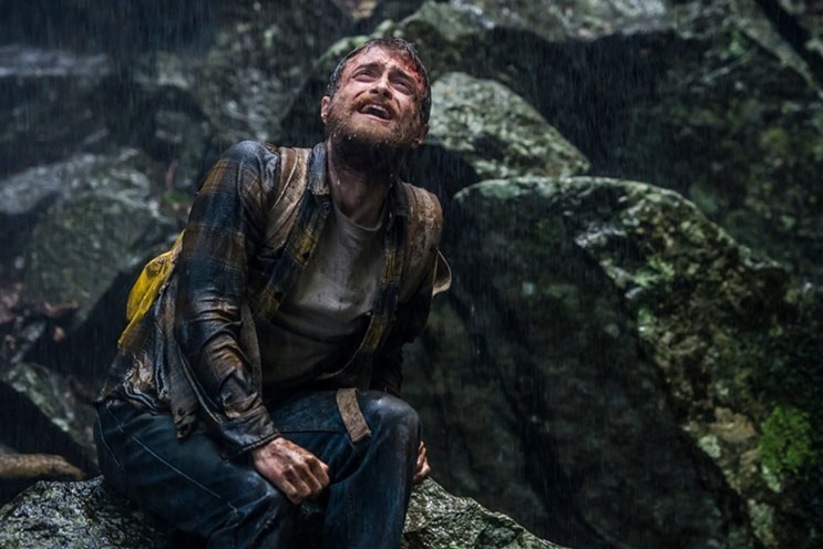 Daniel Racliffe's character Yossi Ghinsberg in the film Jingle is lost in the Amazon, distraught and bloodied.