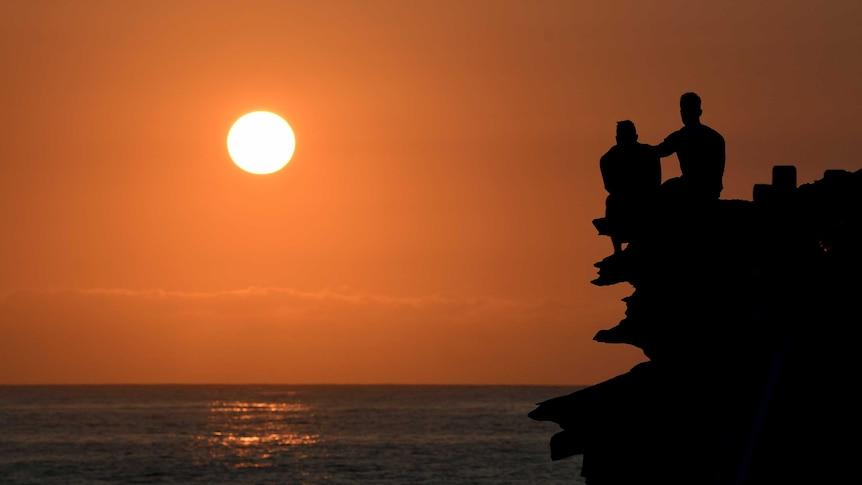 An orange sunrise