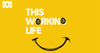 Podcast art for ABC's This Working Life: a smiley face with eyes as the 'o's in the title This Working Life