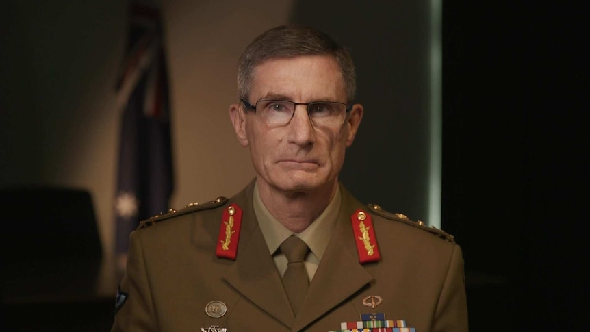 General Angus Campbell wears his uniform