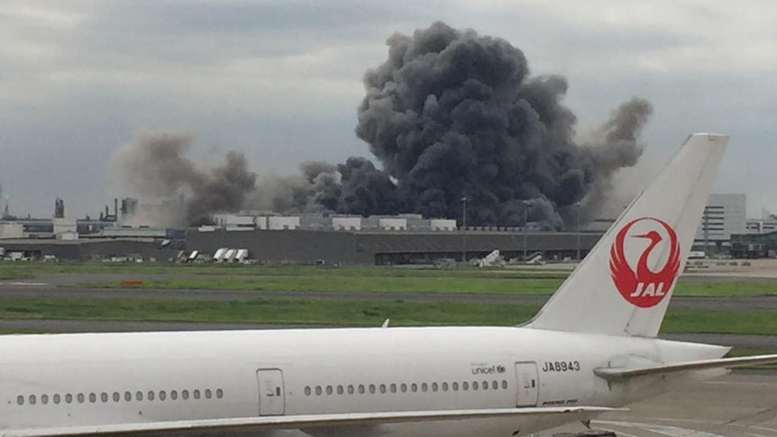 Fire at steel plant near Tokyo's Haneda airport