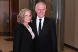 Australian Prime Minister Malcolm Turnbull and his wife Lucy arrive for the annual Mid Winter Ball.