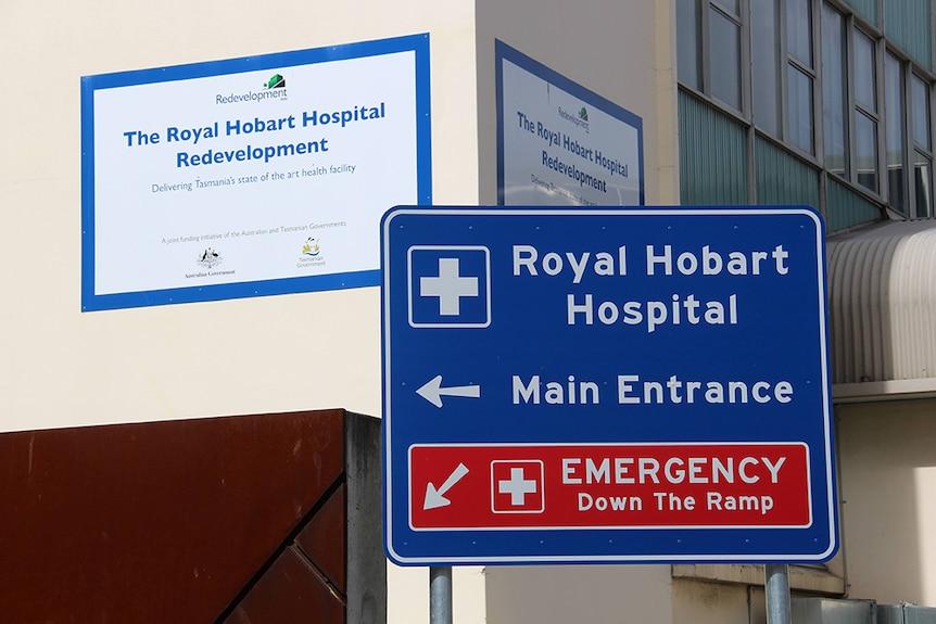 Royal Hobart Hospital signage